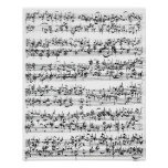 Music Score of Johann Sebastian Bach Poster