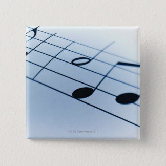 Music Sheet 2 15 Cm Square Badge
