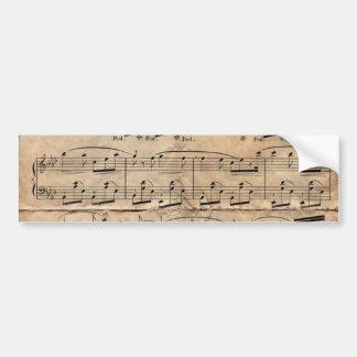 Music Sheet Bumper Sticker