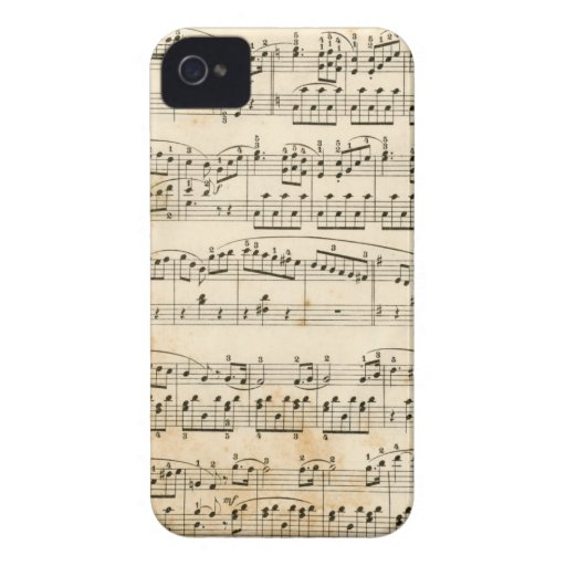 Music sheet iPhone 4 cases