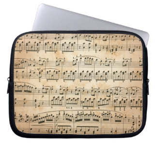 Music sheet laptop sleeve