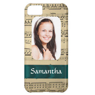 Music sheet photo template iPhone 5C case