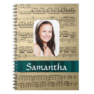Music sheet photo template notebooks