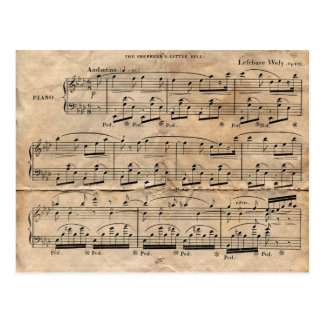 Music Sheet Postcard