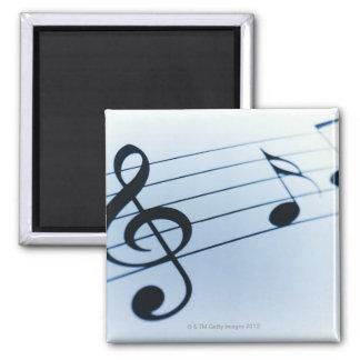 Music Sheet Square Magnet