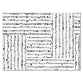 Music Sheet Tissue Collage