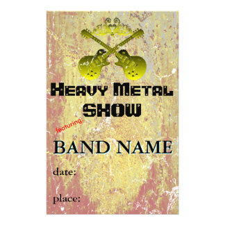 Music Show or Band 14 Cm X 21.5 Cm Flyer