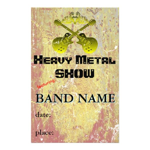 Music Show or Band Custom Flyer
