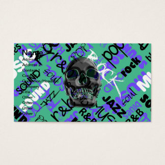 Music Skull Business Card
