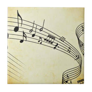 Music Small Square Tile
