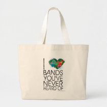 Music Snob Large Tote Bag