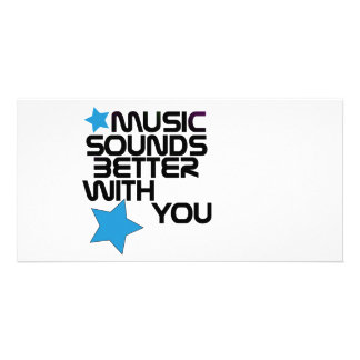 Music Sounds Better With You Personalized Photo Card