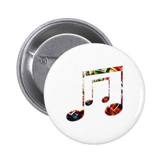 Music Sparkle Red 6 Cm Round Badge