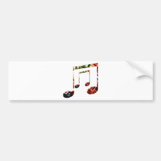 Music Sparkle Red Bumper Sticker
