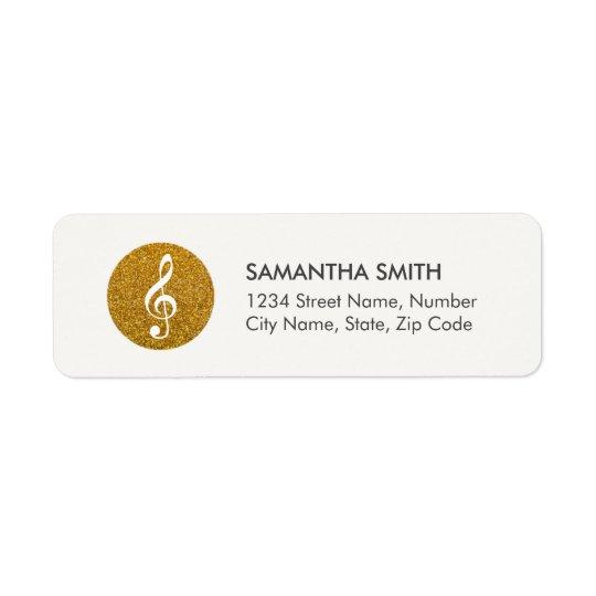 Music Sparkling Logo Address Label