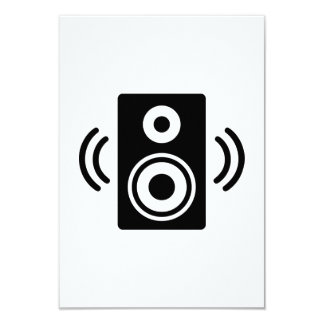 Music speaker 9 cm x 13 cm invitation card
