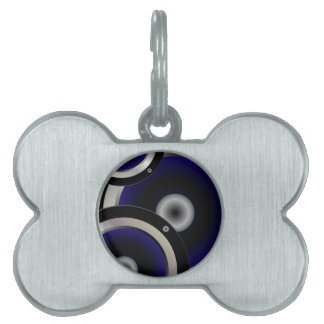 Music Speaker Background Pet Tag