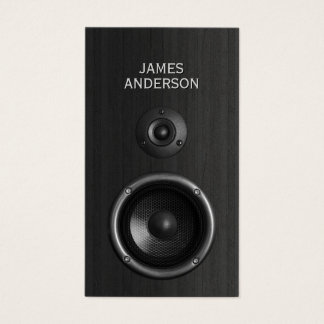 Music Speaker DJ Event Planning business cards