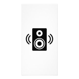 Music speaker photo card template
