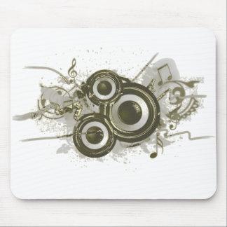 Music - Speaker Swirl Mouse Mat