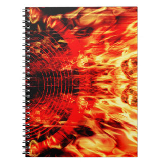 Music speaker with flames notebook