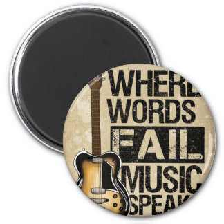 music speaks 6 cm round magnet