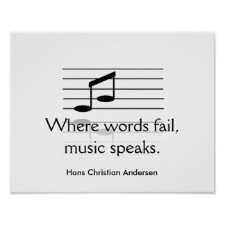 Music speaks - art print