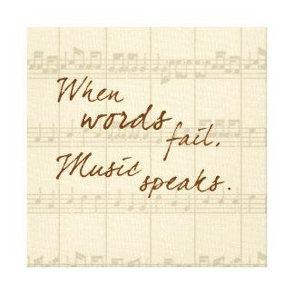 Music Speaks Canvas Print