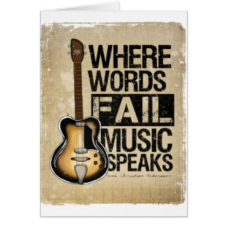 music speaks card