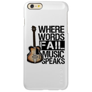 Music Speaks | Choose your background color iPhone 6 Plus Case