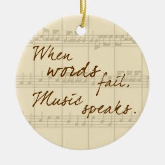 Music Speaks Christmas Ornament