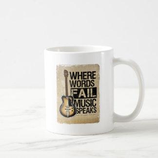 music speaks coffee mug