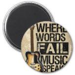music speaks fridge magnet