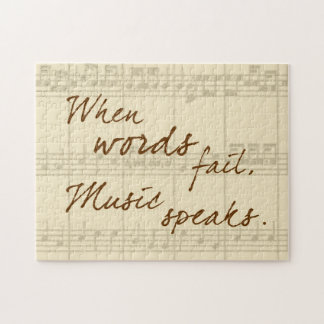 Music Speaks Jigsaw Puzzle