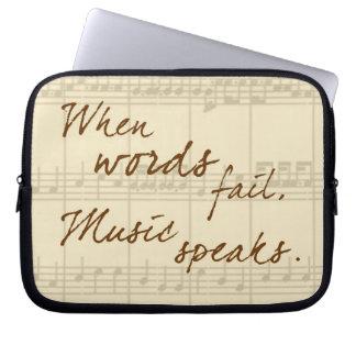 Music Speaks Laptop Sleeve