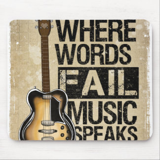 music speaks mouse mat