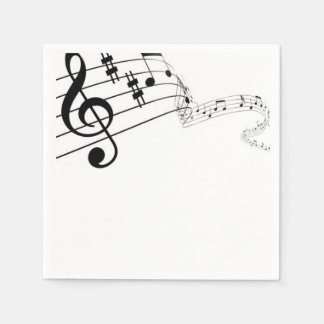 Music Speaks Napkins Disposable Napkins
