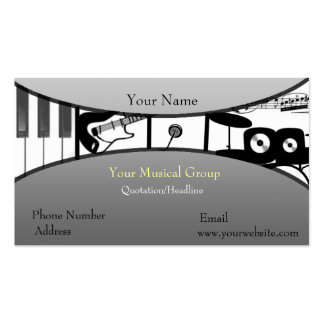 Music Speaks Pack Of Standard Business Cards