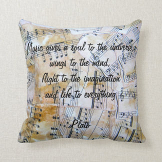 Music speaks pillow cushion