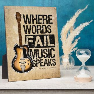 Music Speaks Plaque