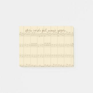 Music Speaks Post-it Notes