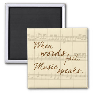 Music Speaks Square Magnet