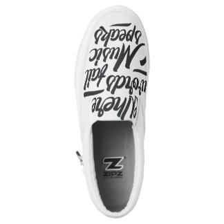 Music speaks Zipz Slip On Shoes Printed Shoes