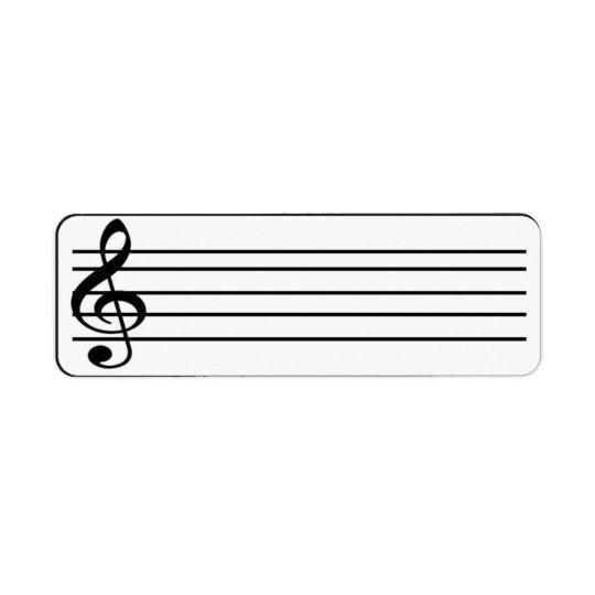 music staff 1 return address label