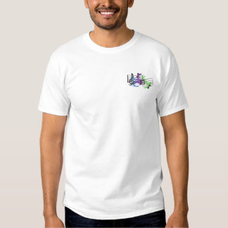 Music Staff Embroidered T-Shirt