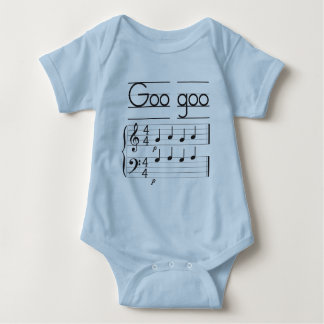 Music staff infant creeper, Goo goo gaga Baby Bodysuit