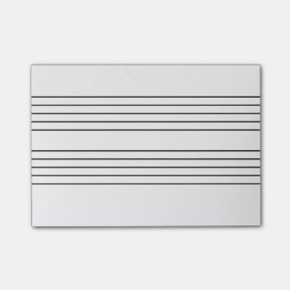 Music staff notepad