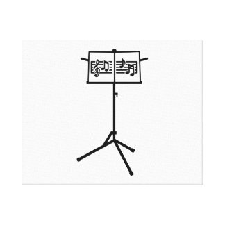 Music stand notes gallery wrapped canvas