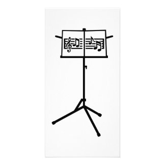 Music stand notes custom photo card