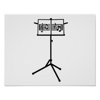 Music stand notes poster